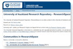 University of Auckland Research Repository, ResearchSpace