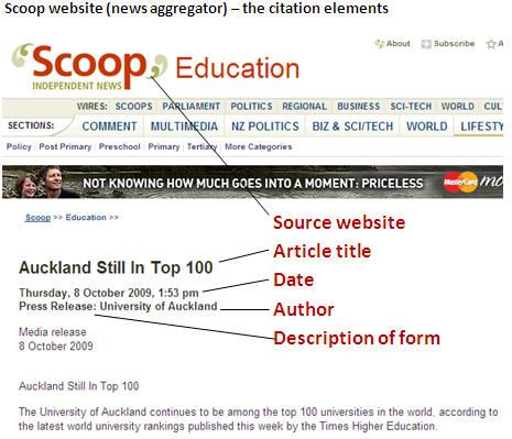 website article citation